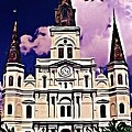 St Louis Cathedral In New Orleans by John Malone