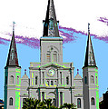St Louis Cathedral Poster 2 by Alys Caviness-Gober