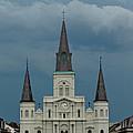 St Louis Cathedral Under Storm Clouds by Susie Hoffpauir