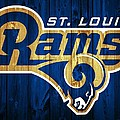 St. Louis Rams Barn Door by Dan Sproul