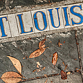 St Louis Street Tiles In New Orleans by Kathleen K Parker