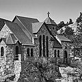 St Malo Chapel On The Rock Colorado Bw by James BO Insogna