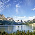 St. Mary Lake And Wild Goose Island by Chuck Spang