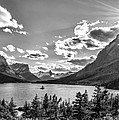 St. Mary Lake Bw by Aaron Aldrich