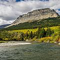 St. Mary River And East Flattop Mountain by Greg Nyquist