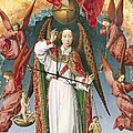 St. Michael Weighing The Souls, From The Last Judgement, C.1445-50 Oil On Panel Detail Of 170072 by Rogier van der Weyden