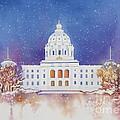 St. Paul Capitol Winter by Deborah Ronglien