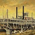 St. Paul Steamboat by Don  Langeneckert