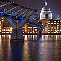 St Pauls And Millennium Bridge by Martin Richardson