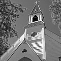 St. Paul's Church Port Townsend In B W by Connie Fox