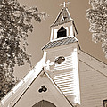 St. Paul's Church Port Townsend In Sepia by Connie Fox