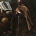 St Peter Of Alcantara by Luis Tristan de Escamilla