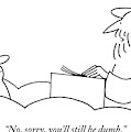St. Peter Talks To A Man At The Pearly Gates by Charles Barsotti