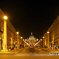 St. Peter's Basilica. Via Della Conziliazione. Rome by Bernard Jaubert