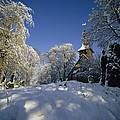 St Peter's Church In The Snow by Robert Hallmann