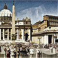 St Peters Square - Vatican by Jon Berghoff