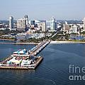 St Petersburg Skyline And Pier by Bill Cobb