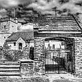St Sannans Church Bedwellty 4 Mono by Steve Purnell