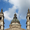 St. Stephen's Basilica Dome And Bell Towers by Artur Bogacki