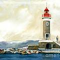 St. Tropez Lighthouse France by Carla Palmer