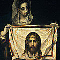 St Veronica With The Holy Shroud by El Greco Domenico Theotocopuli