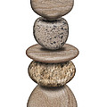 Stack Of Balanced Rocks With Heart by David Gn
