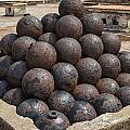 Stack Of Cannon Balls At Castillo San Felipe Del Morro by Bryan Mullennix