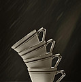 Stack Of Cups by Amanda Elwell