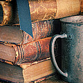 Stack Of Vintage Books by Jill Battaglia
