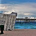 Stacked Beach Chairs by Chuck  Hicks