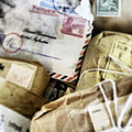 Stacks Of Old Mail Tied Together by Birgit Tyrrell