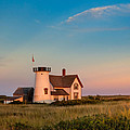 Stage Harbor Lighthouse Square by Bill Wakeley