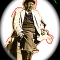 Stagecoach Homage 1939 Andy Devine On Stage Old Tucson Arizona by David Lee Guss