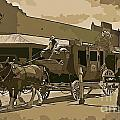 Stagecoach In Old West Arizona by John Malone