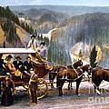 Stagecoach Near Upper Falls by NPS Photo Frank J Haynes