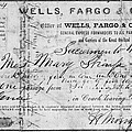 Stagecoach Ticket 1868 by Granger