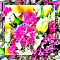 Stain Glass Framed Florals by Catherine Lott