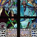 Stained Galss Window In St Vitus by Mark Thomas