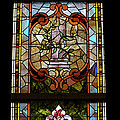 Stained Glass 3 Panel Vertical Composite 06 by Thomas Woolworth