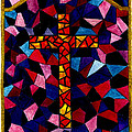 Stained Glass Cross by Michael Vigliotti