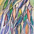 Stained Glass Leaves #2 by Barbara Tibbets