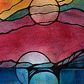 Stained Glass Moonrise by Jodi Forster