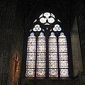 Stained Glass Of The Notre Dame by Angela  Rose
