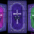 Stained Glass - Purple by Ericamaxine Price