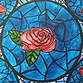 Stained Glass Roses by CE Dill