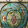 Stained Glass Skylight In Fordyce Bathhouse by John M Bailey