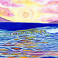 Stained Glass Sunset by Suzanne MacAdam