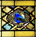 Stained Glass Template Blue Bird Of Happiness by Ellen Cannon