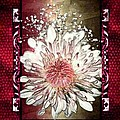 Stained Glass Template White Chrysanthemum by Ellen Cannon
