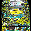Stained Glass Tiffany Holy City Memorial Window by Donna Walsh